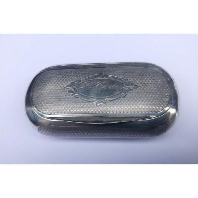 Silver Snuff Box Late 19th