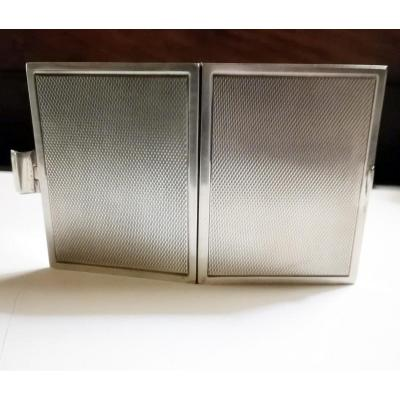 Double Photo Holder In Silver 20th