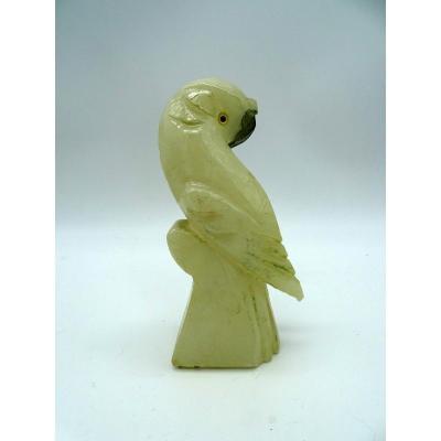 Perroquet En Albâtre Années 50