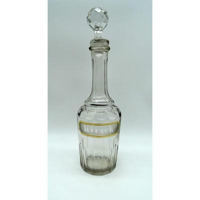 """Carafe en cristal """"Kirsch"""" Napoléon III"""