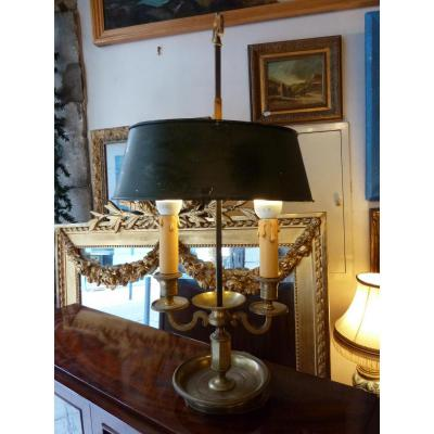 Bouillotte Lamp With Two Lights Late 19th