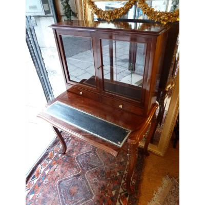Writing Table With A Display Cabinet Napoleon III