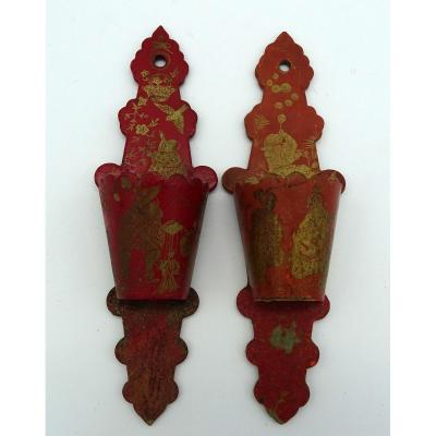 Pair Of Pyrogens In Boiled Cardboard Napoleon III