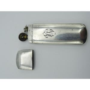 Perol Lighter In Silver Late 19th / 1900