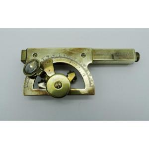 Graphometer-protractor In Brass Late 19th / 1900