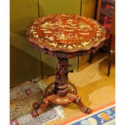 Pedestal Table Far East Late 19th