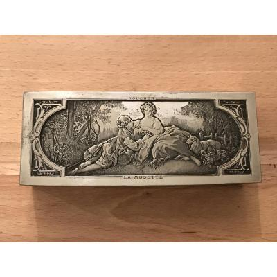 Wicker-boucher-la Musette-pastorale Jewelry Box