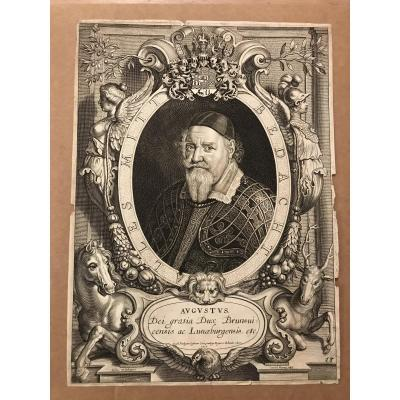 Engraving 17th-augustus-anselmus Van Hulle-1652