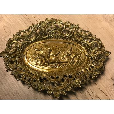 Coupe en bronze, 19ème, de style Rocaille-Mythologie
