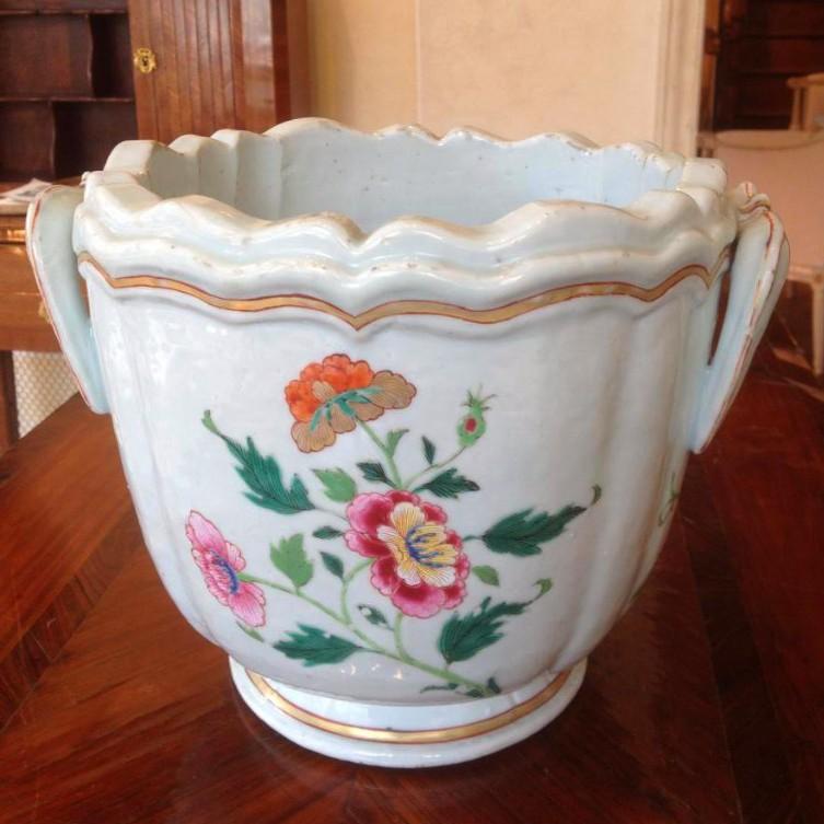 Rafraîchissoir Bottle Porcelain China Epoque Eighteenth Century