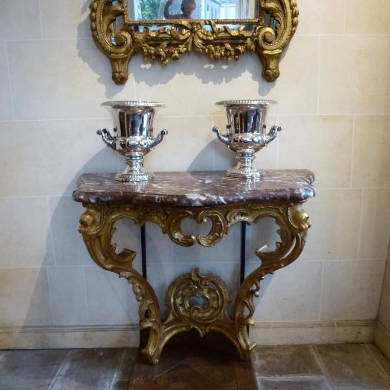 Console d'Applique En Bois Doré  Epoque Louis XV