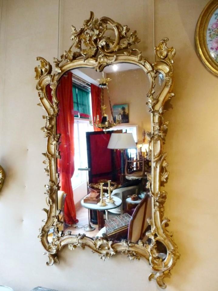 Miroir En Bois Doré Epoque Louis XV