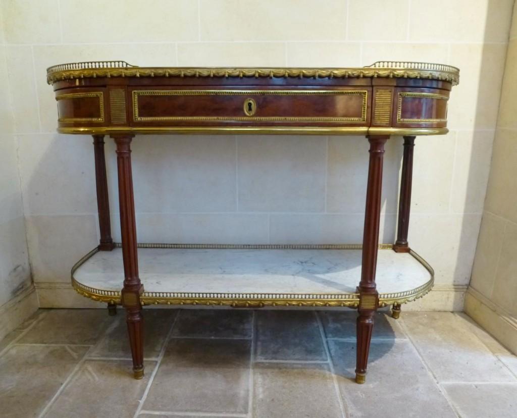 Console En Acajou d' époque Louis XVI