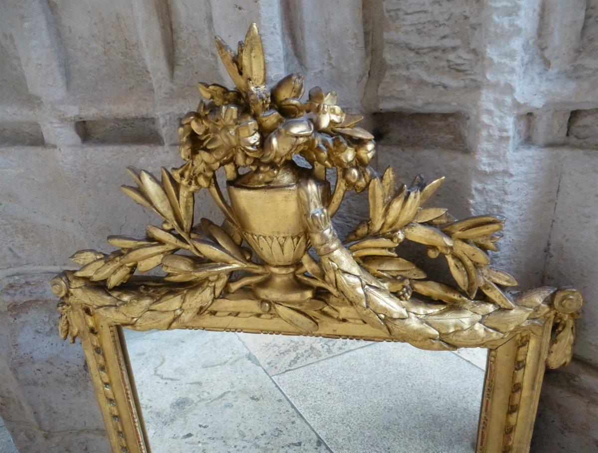 Miroir En Bois Doré   Style Louis XVI-photo-2