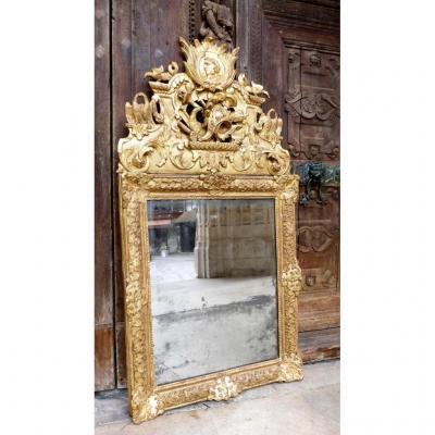 Miroir En Bois Doré Epoque Régence