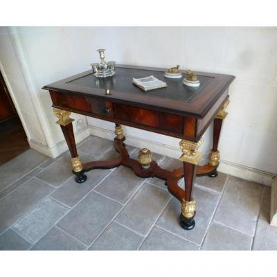 Writing Table In Rosewood Louis XIV Era