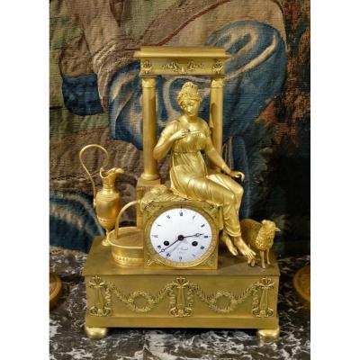 Clock Gilt Bronze Empire Period