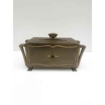 Grand Coffret Art Deco En Bronze Circa 1940