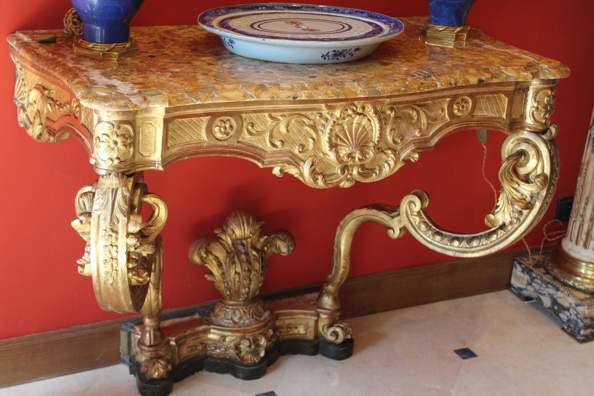 Console LOUIS XV d'époque  XVIIIème Siècle