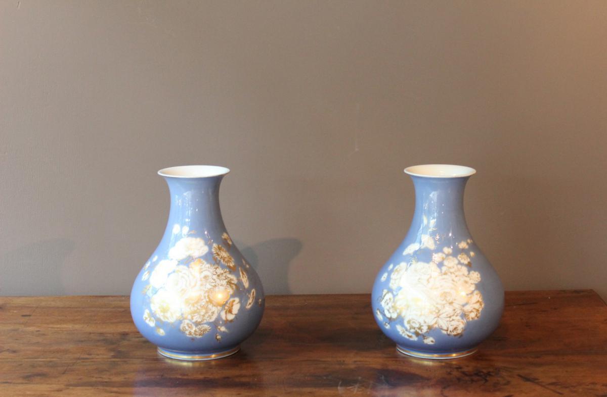 Paire De Vase En Porcelaine XIX