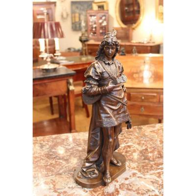 Sculpture d'Un Joueur De Mandoline Par Bouret