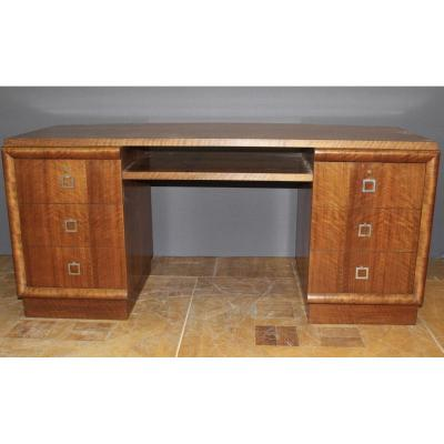 Walnut Art Deco Desk