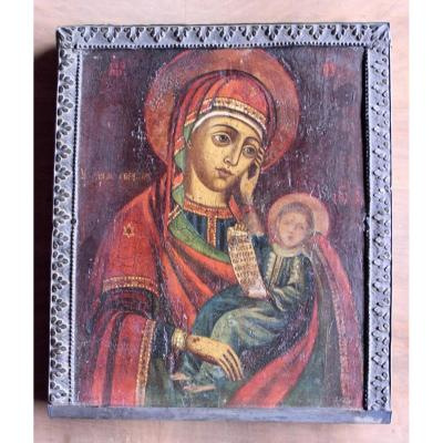Russian Icon Virgin And Child Early XIX