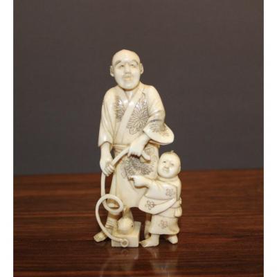 Okimono En Ivoire époque Meiji