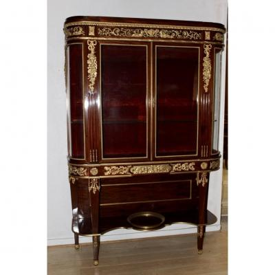 Argentier Of Napoleon III Period And Louis XVI Style In Mahogany