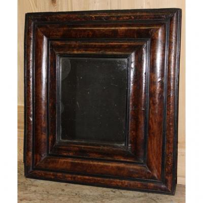 Louis XIII Period Mirror In Walnut Loupe XVII