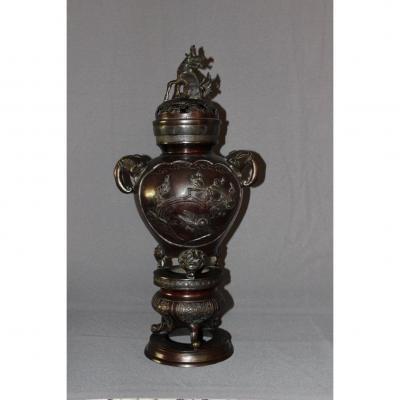 Grand Brûle-parfum En Bronze Fin XIX