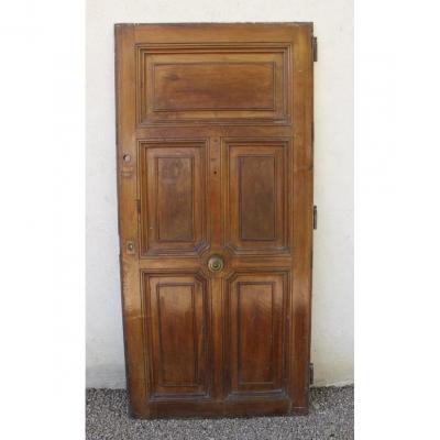 Porte d'Entrée En Noyer XIX