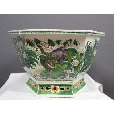 Cache Pot En Porcelaine De Chine Fin XIX