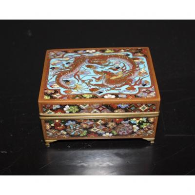 Japan Cloisonne Enamel Box Meiji Period