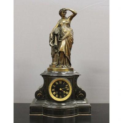 Napoleon III And Bronze Pendulum By Lemoine