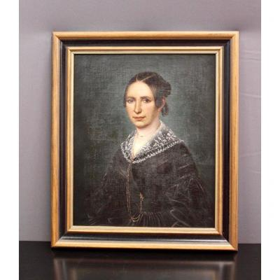 Oil On Canvas Representing A Woman XIX