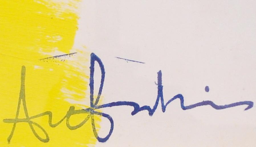 Ange Falchi (1913-1989), Gouache Sur Papier, Composition Abstraite-photo-3