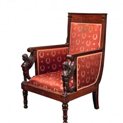 Executive Period Armchairs Attributed To Jacob