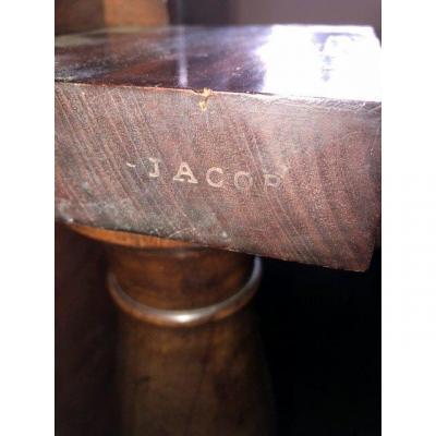 Pedestal Table Stamped Jacob