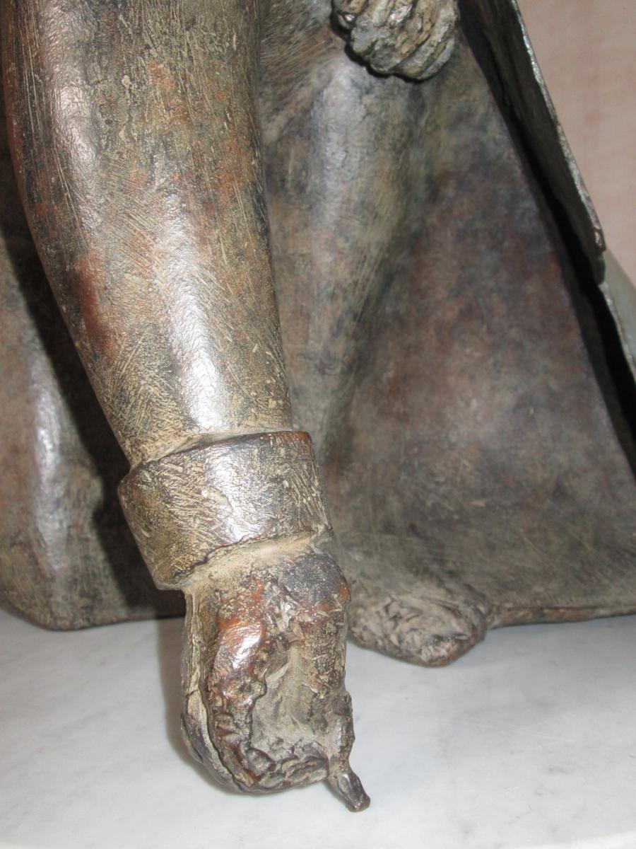 Sculpture Le dessinateur de Jean-robert Ipousteguy En Bronze-photo-2
