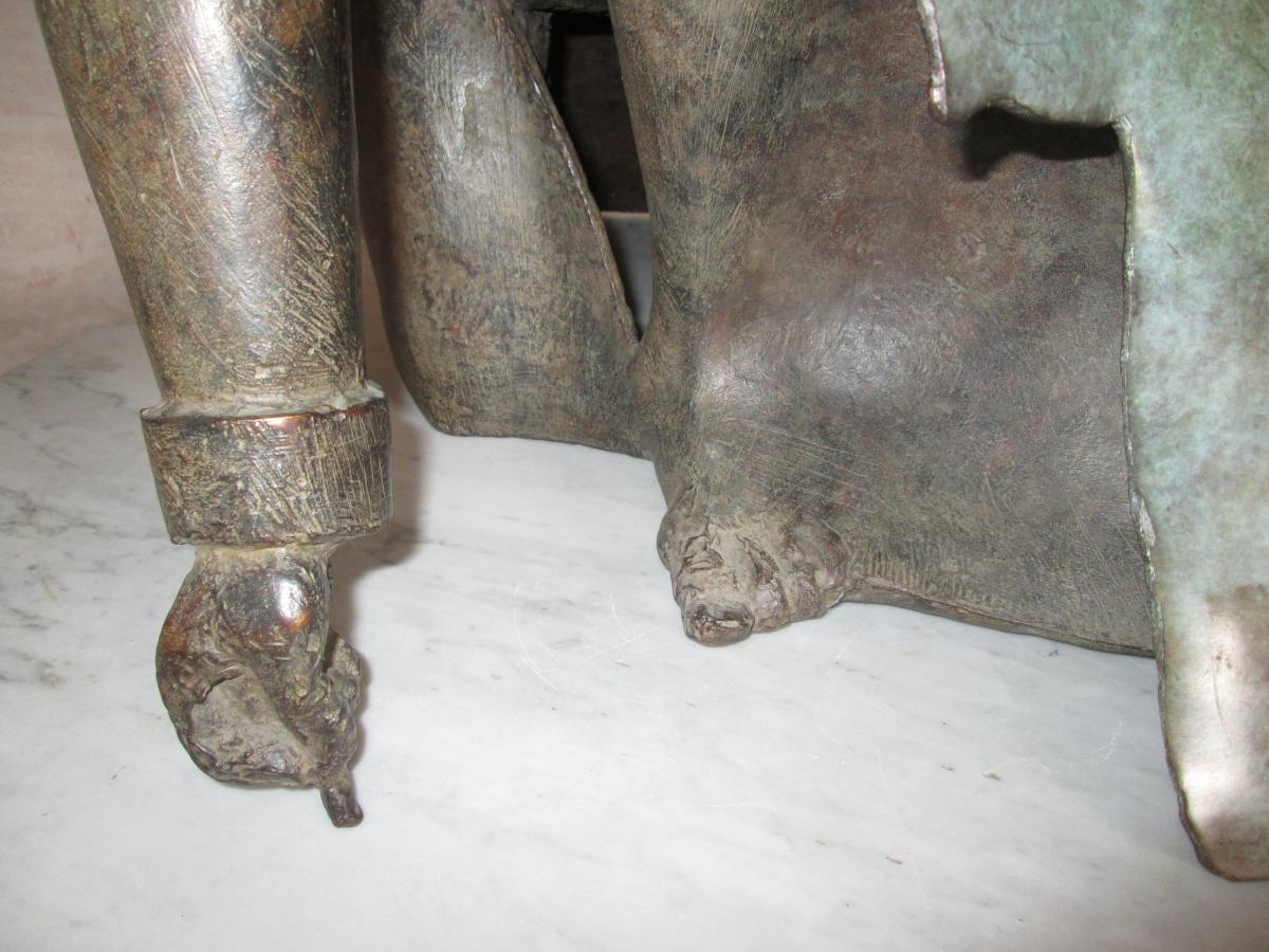Sculpture Le dessinateur de Jean-robert Ipousteguy En Bronze-photo-4