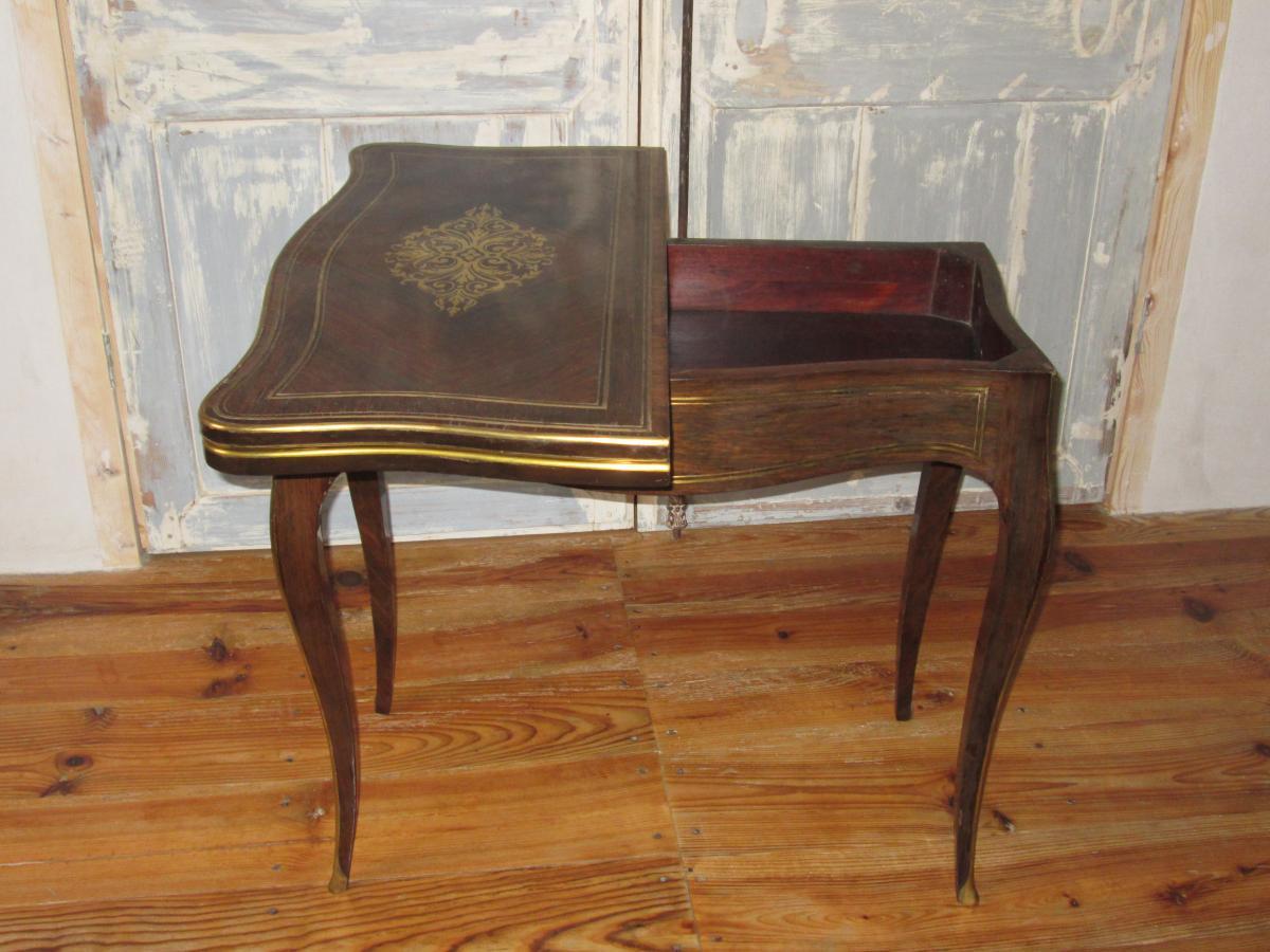 Table à Jeu Napoléon III-photo-3