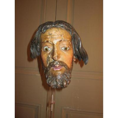 Tete De Christ Espagne XVIIIème