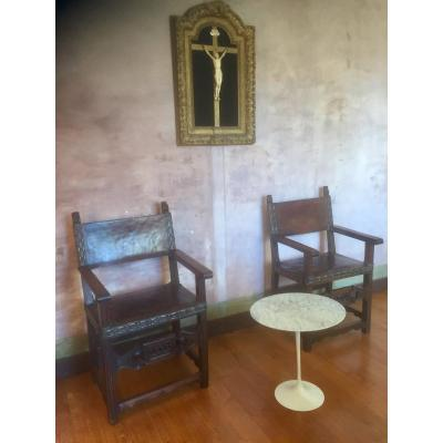 Pair Of Spanish Armchairs