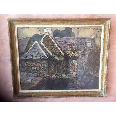 Pastel De Jean -charles Contel (1895 -1928)