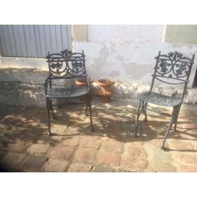 Fauteuil et chaise  de jardin
