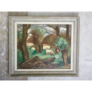 Huile Sur Toile De Gérard Cochet (1888-1969)