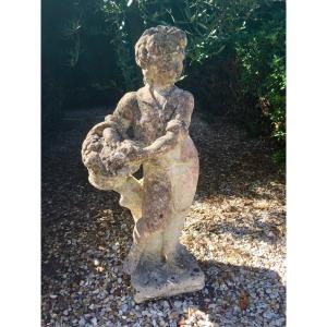 Statue De Jardin Le Petit Vendangeur