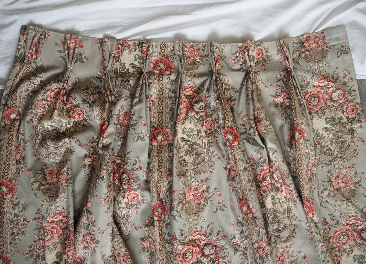 Pair Of Louis XVI Style Curtains (a)