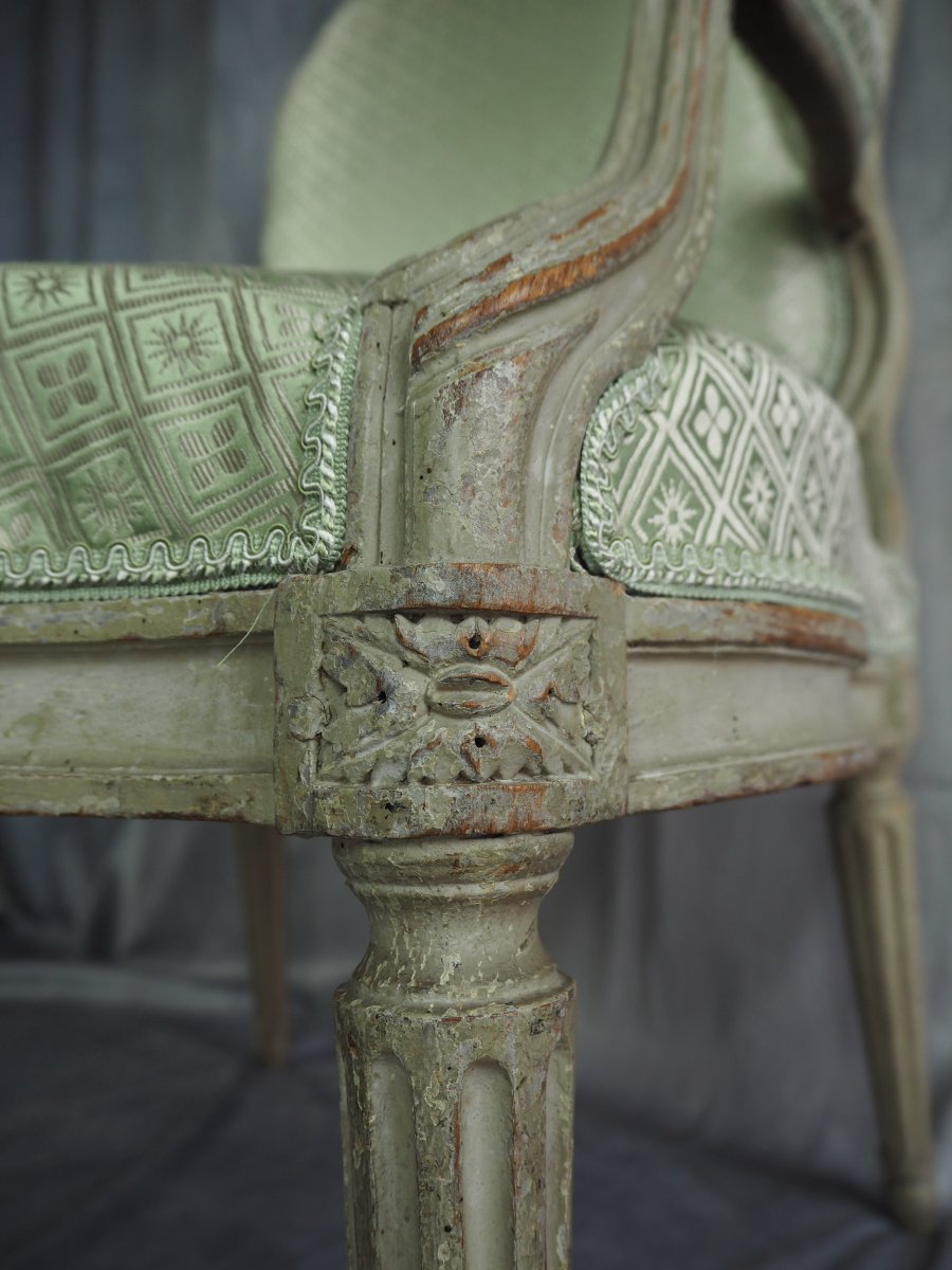 Transition Armchair, Stamped N.s. Courtois, Circa 1770-photo-4